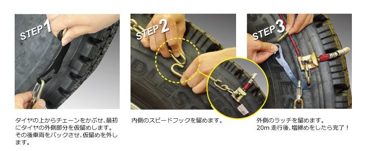 SCCケーブルチェーンDCシリーズ取付方法