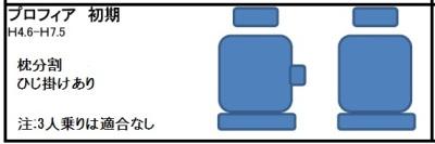 日野プロフィア初期型シート形状
