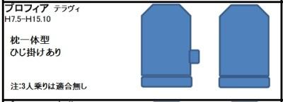 日野プロフィアテラヴィシート形状
