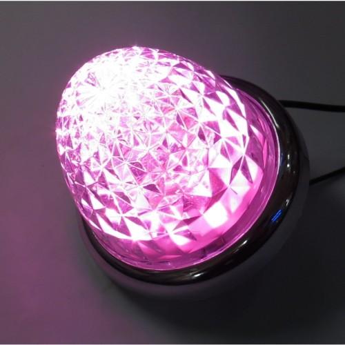 超流星LEDマーカーランプ クリアレンズ/LEDピンク
