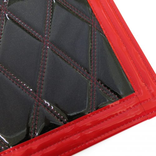 トラック用泥除け きらめきV2泥除け 本体:ブラック×ゴールド フチ:赤 拡大